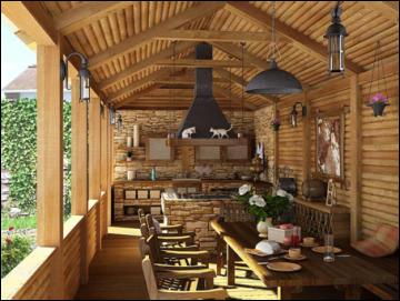 дизайн літньої кухні на дачі своїми руками ремонт