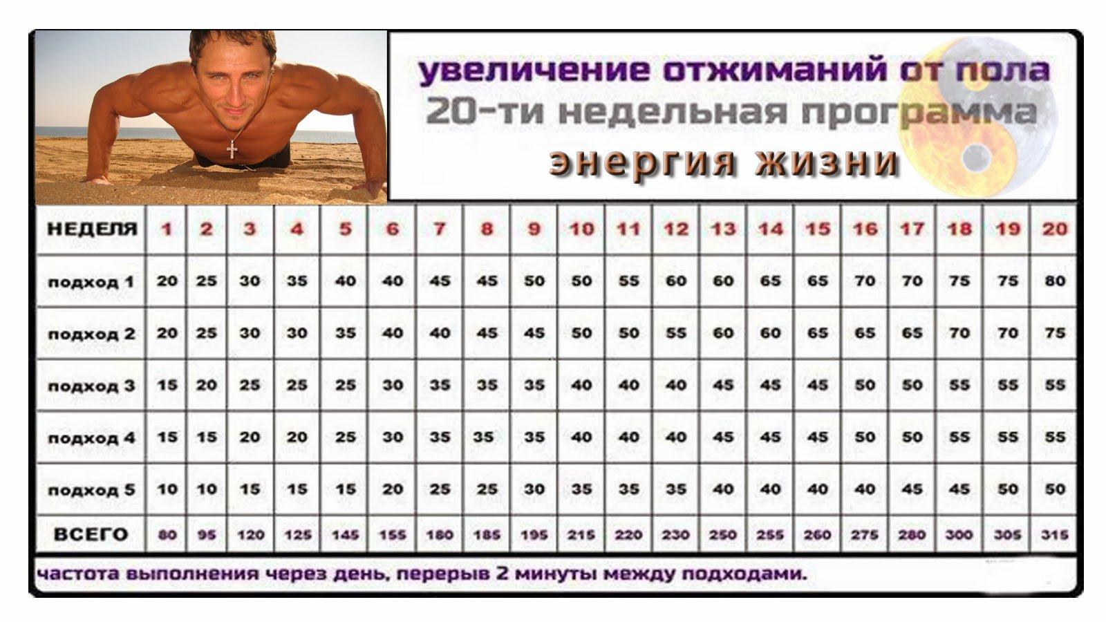 Упражнения в домашних условиях отжимания