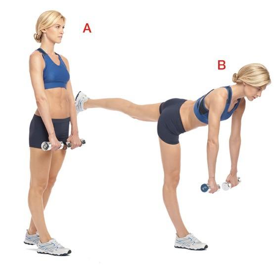 Упражнения с гантелями на пресс для девушек
