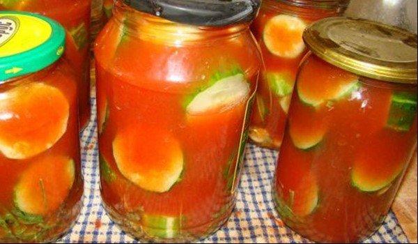 Рецепты маринованных огурцов в томате