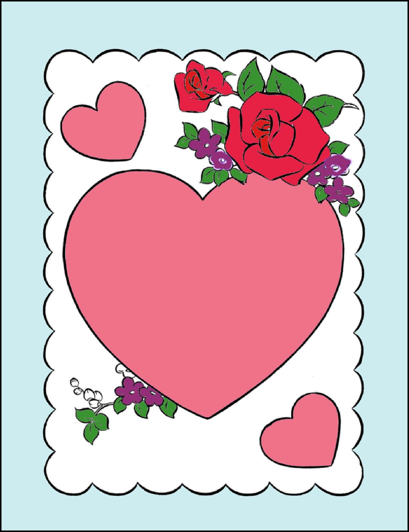 открытка на день валентина нарисовать своими руками самых необычных трогательных