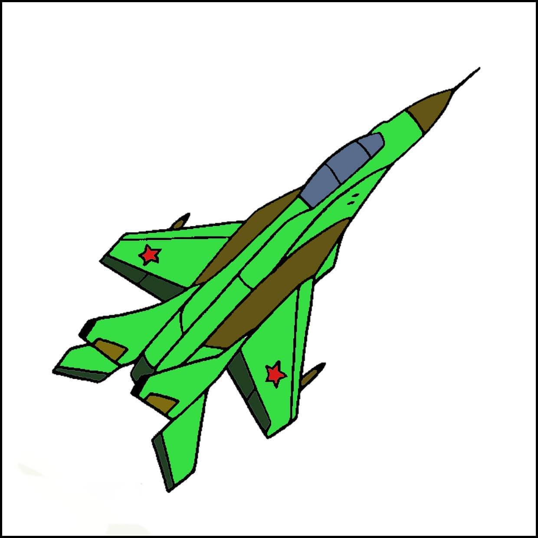 война детский рисунок самолет