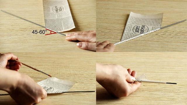 Как сделать газетные трубочки своими руками 39