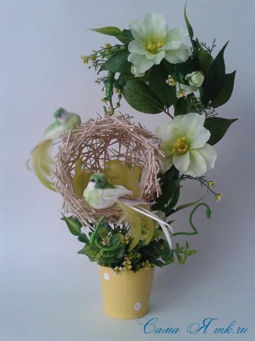 Поделки топиарий гнездо