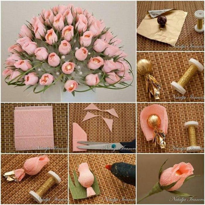 Как и из чего сделать букет цветов своими руками
