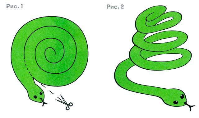 Как сделать змею своими руками для ребенка 641
