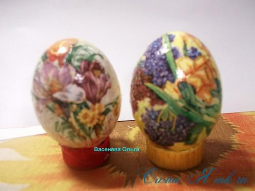 Декупаж великодніх яєць своїми руками
