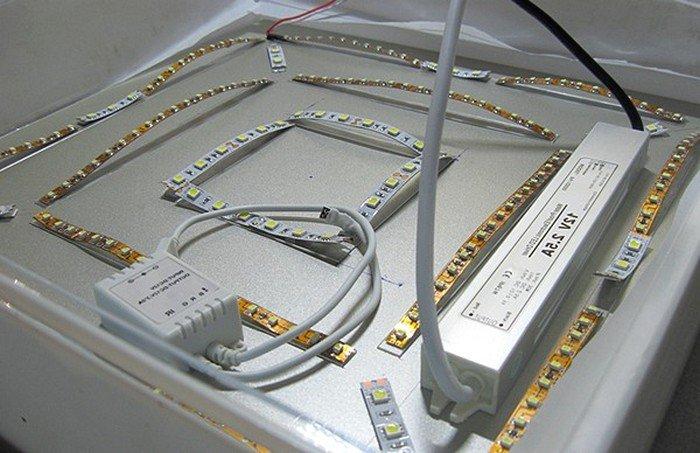 Сделать светильник из светодиодной ленты своими руками 19