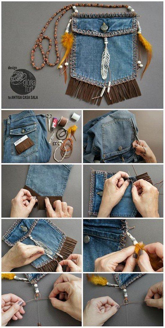 0753b906df18e2 Друге життя старих джинсів – фото ідеї, що можна зробити зі старих джинсів
