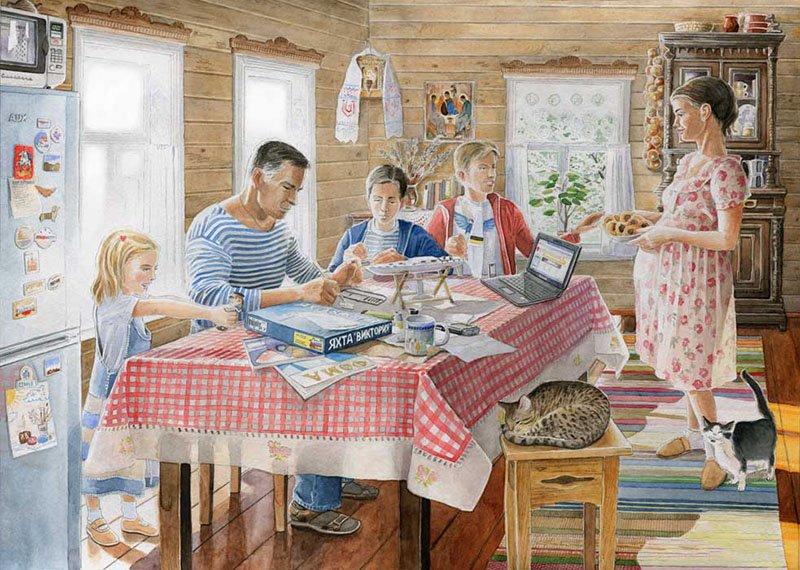 Картинки про домашний быт прикольные, дню москвы